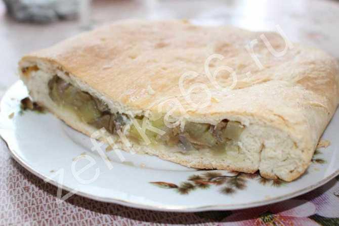 Пирог с солеными грибами и картошкой рецепт с фото - 1000.menu