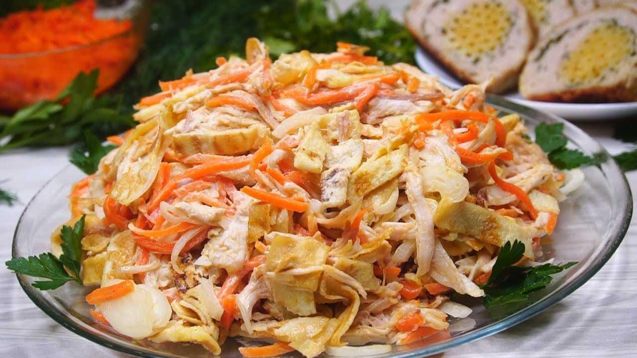 Салат с сельдью и грибами «лисичка»: рецепт
