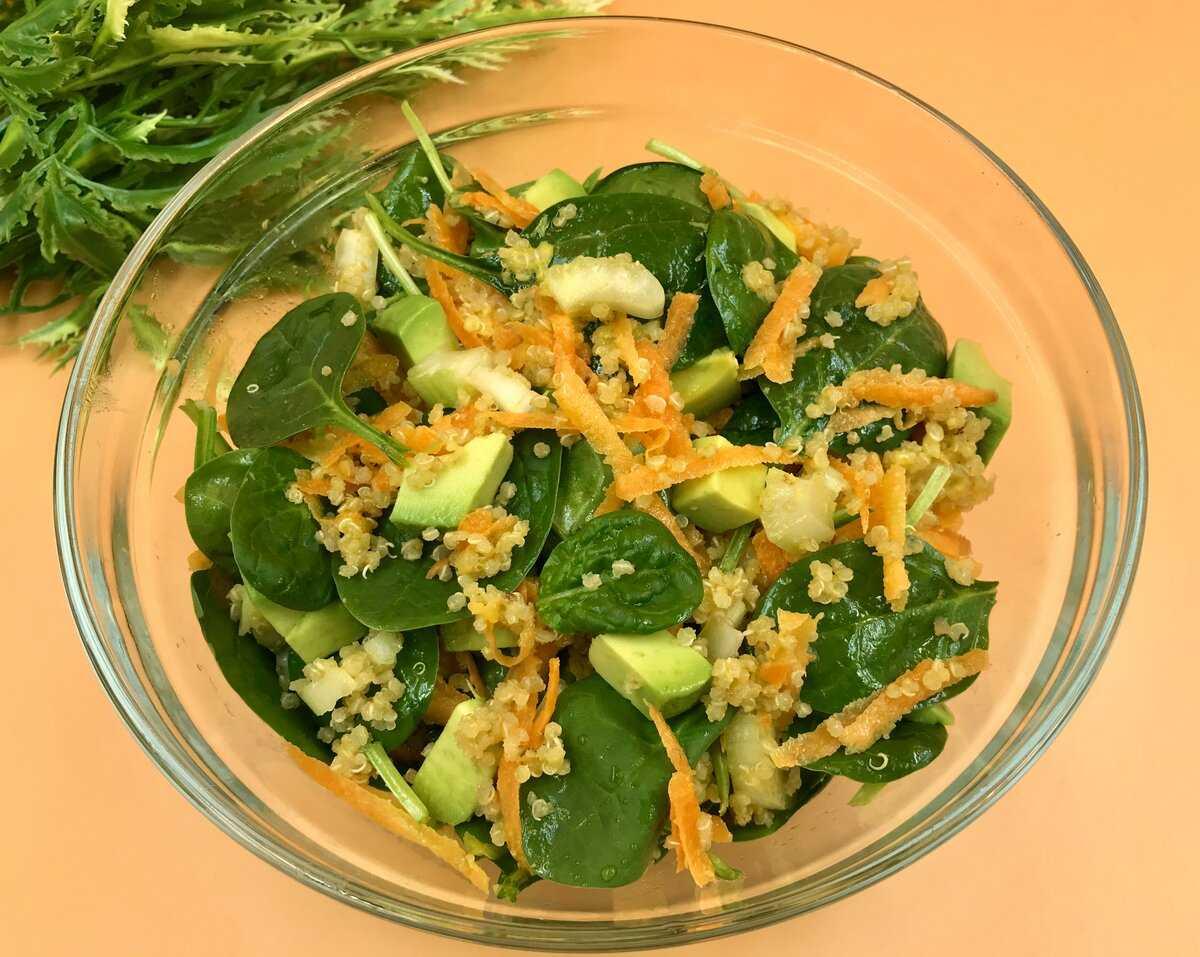 Рецепты салат из овощей и киноа