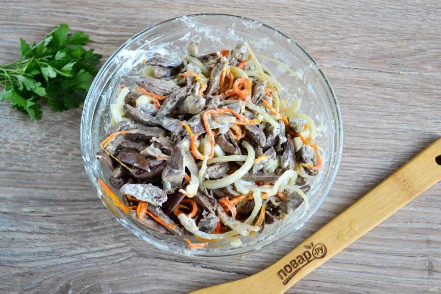 Салат с вареным сердцем свиным. простой салат со свиным сердцем