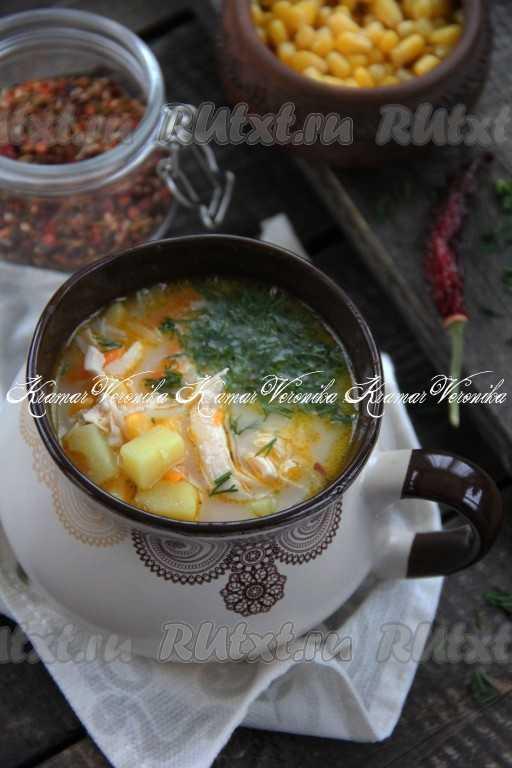 Сливочный суп с грибами и плавленным сыром рецепт с фото пошагово - 1000.menu