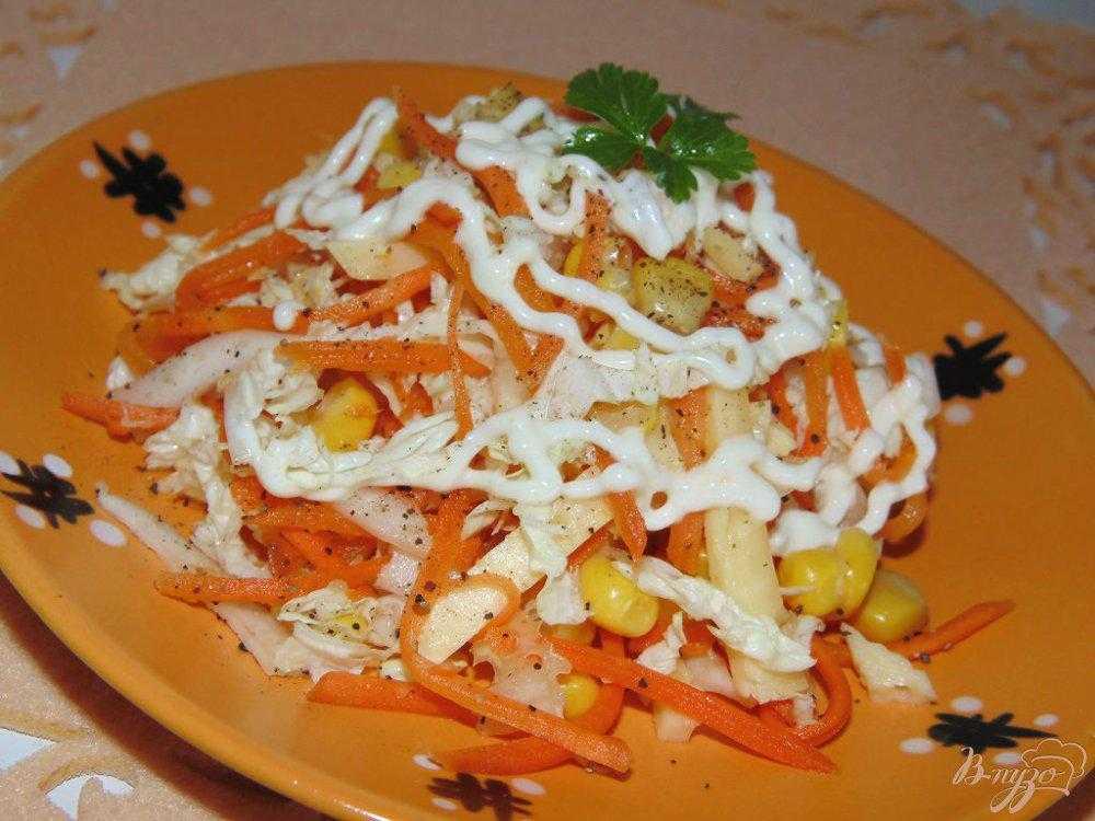 Салат с корейской морковью и ветчиной, рецепт с фото