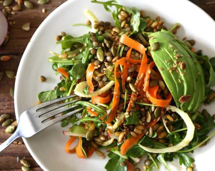 Салат с чечевицей - все вкусное просто: рецепты с фото и видео