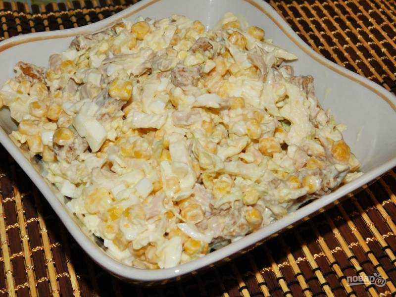 Салат из курицы с сыром и яйцом - вкусная и простая закуска на скорую руку: рецепт с фото и видео