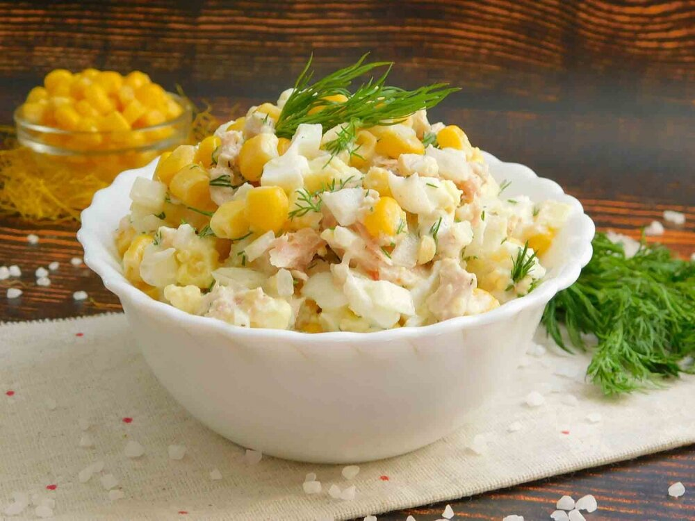 Как приготовить рыбный салат с кукурузой, огурцом и тунцом: поиск по ингредиентам, советы, отзывы, пошаговые фото, подсчет калорий, удобная печать, изменение порций, похожие рецепты
