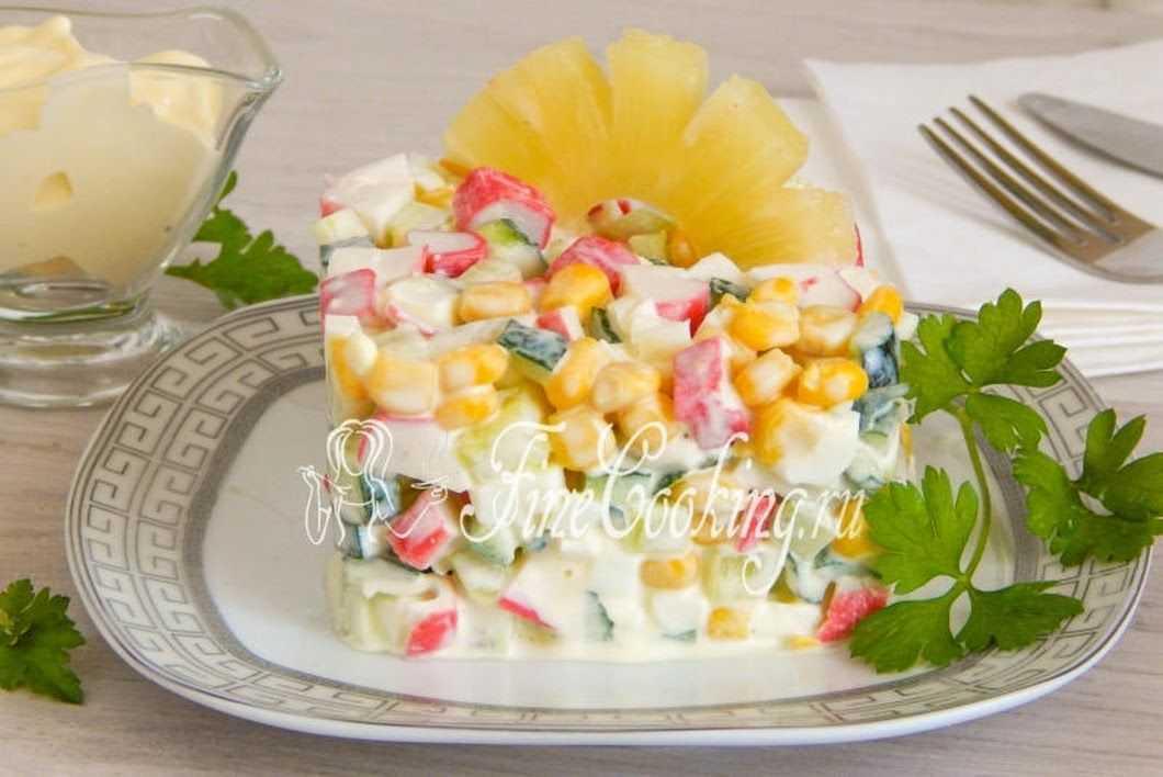 Крабовый салат с ананасом - лучшие рецепты. как правильно и вкусно приготовить крабовый салат с ананасом. - автор екатерина данилова - журнал женское мнение