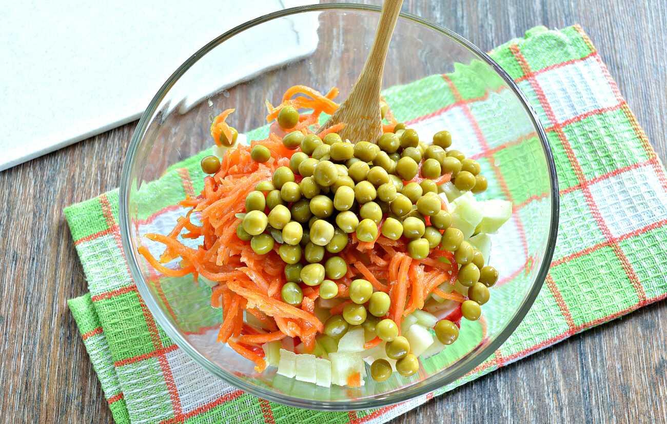 Крабовый салат без риса - пошаговый рецепт с фото