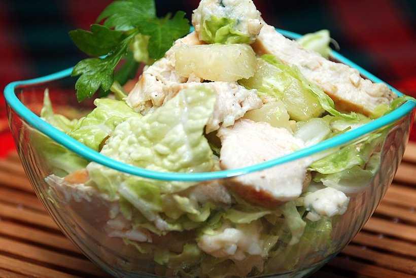 Витаминный салат с пекинской капустой и гранатом