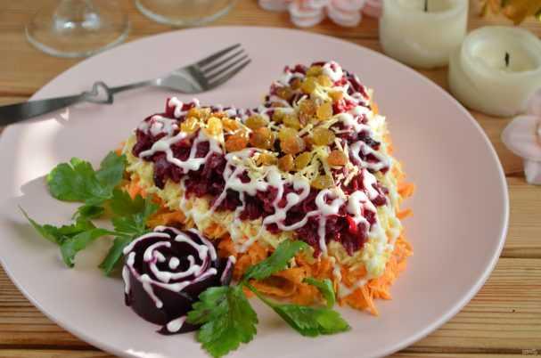 Слоёный салат любовница к дню влюблённых
