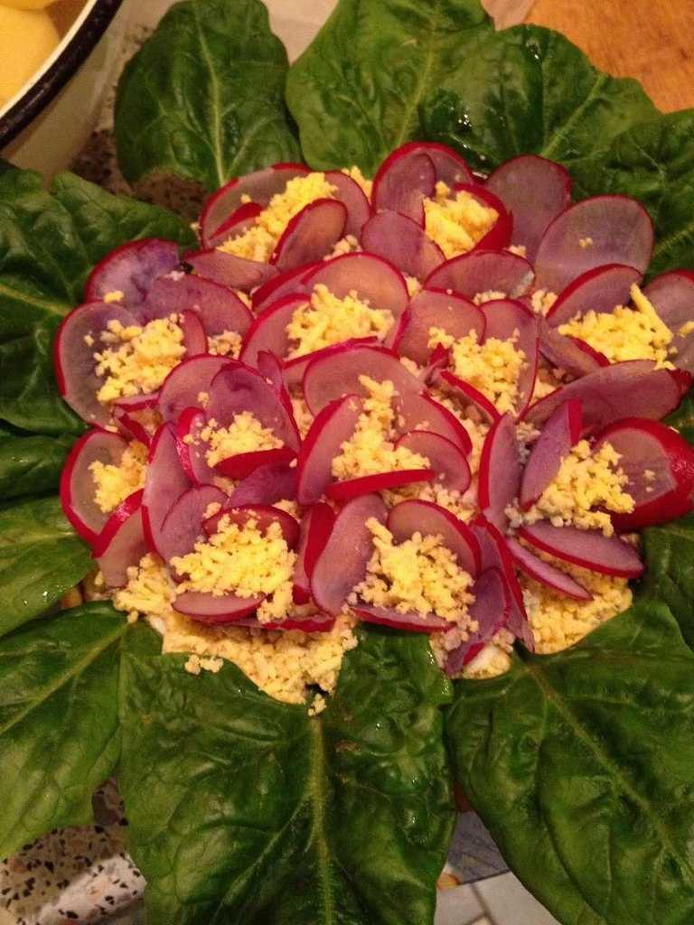 Салат фиалки — рецепт приготовления в домашних условиях