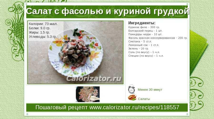 Салат с фасолью и мясом – пошаговый рецепт с фото на повар.ру