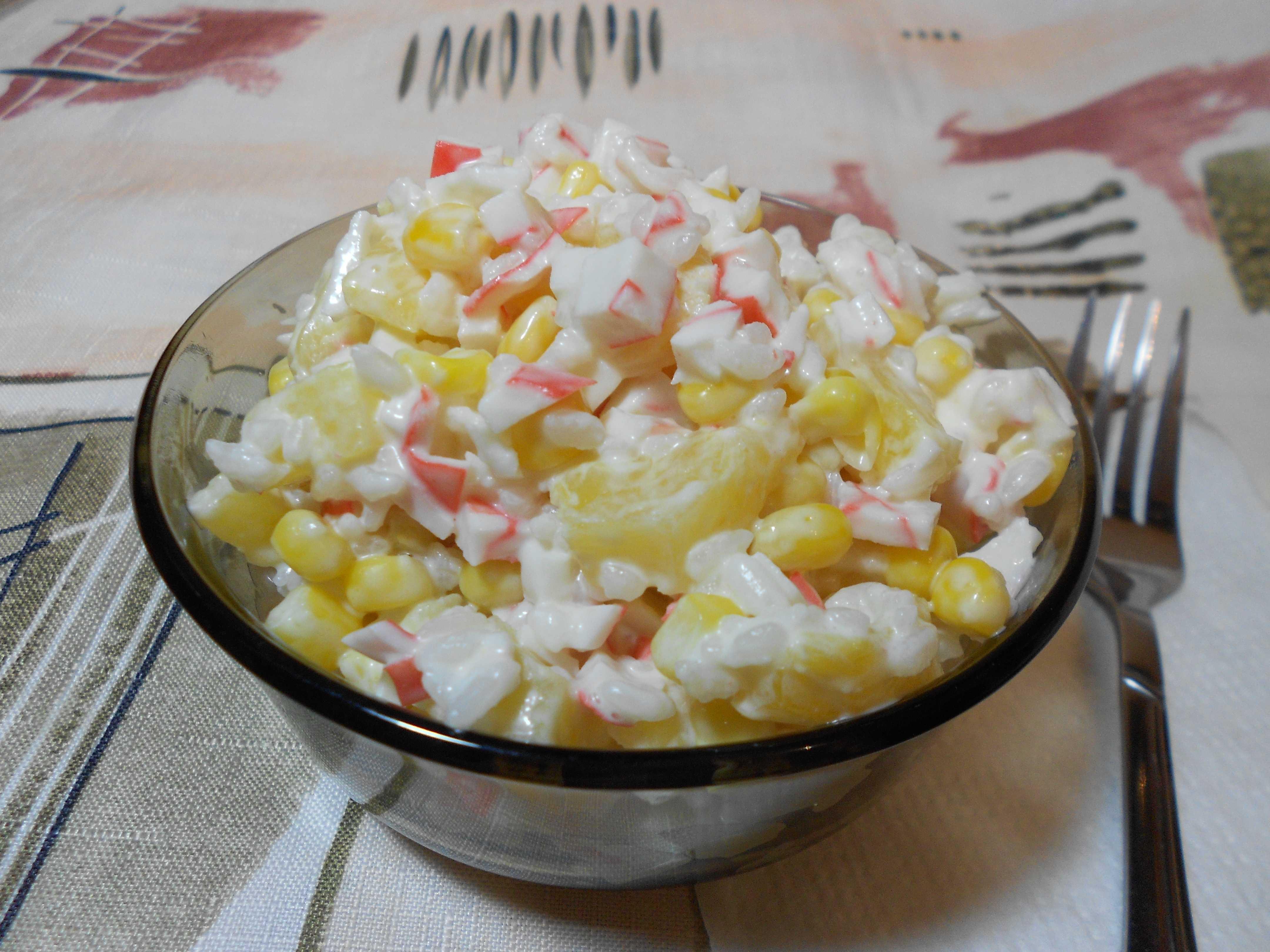 Рецепты салата с ананасами и крабовыми палочками: топ 10 крабовых салатиков с фото и видео
