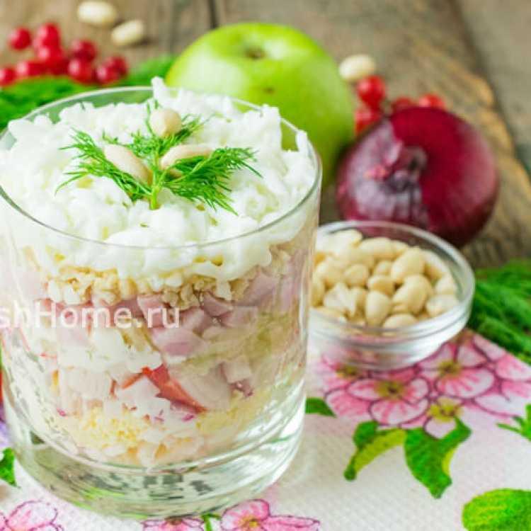 Салат cнежная королева — рецепты красивой закуски на праздничный стол