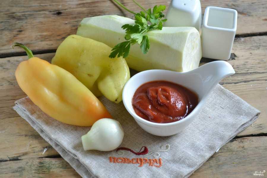 Кабачковая икра с болгарским перцем и томатной пастой рецепт с фото - 1000.menu