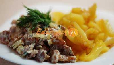 Курица с лисичками в сливочном соусе — пошаговый рецепт с фото