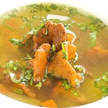 Суп из лисичек - вкусные рецепты крем-супа, сырного и сливочного блюда с гибами и курицей