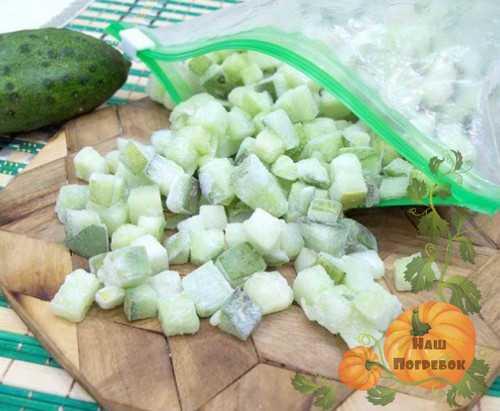 Как заморозить огурцы на зиму правильно, можно ли это делать, отзывы