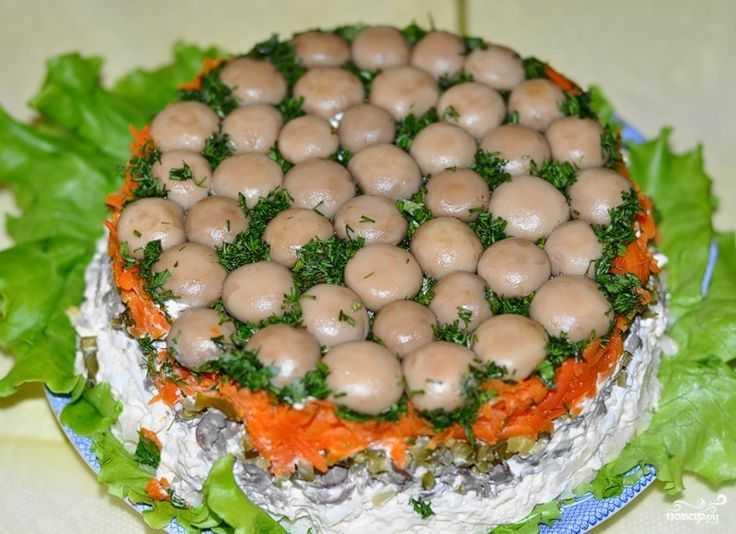 Салат грибная (лесная) поляна с шампиньонами – 9 пошаговых рецептов