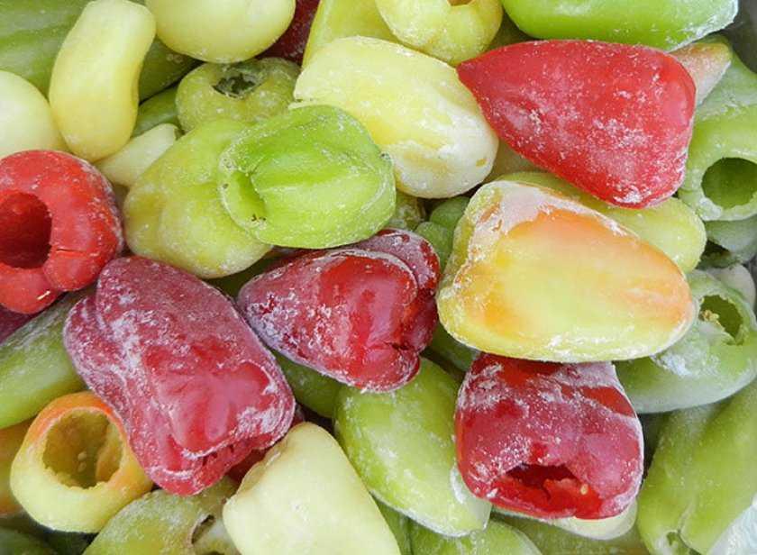 Как заморозить и хранить болгарский перец