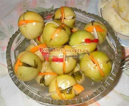 Зеленые помидоры, фаршированные на зиму - рецепты заготовок