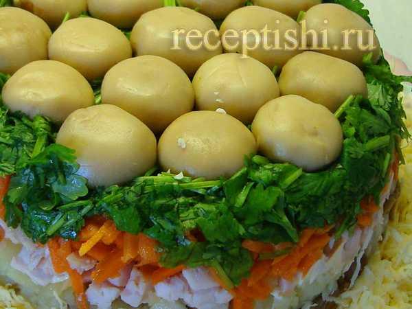 Салат лисичка - это быстро, сытно и вкусно! рецепт с фото и видео