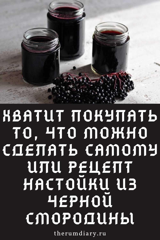 Настойки из черной и красной смородины