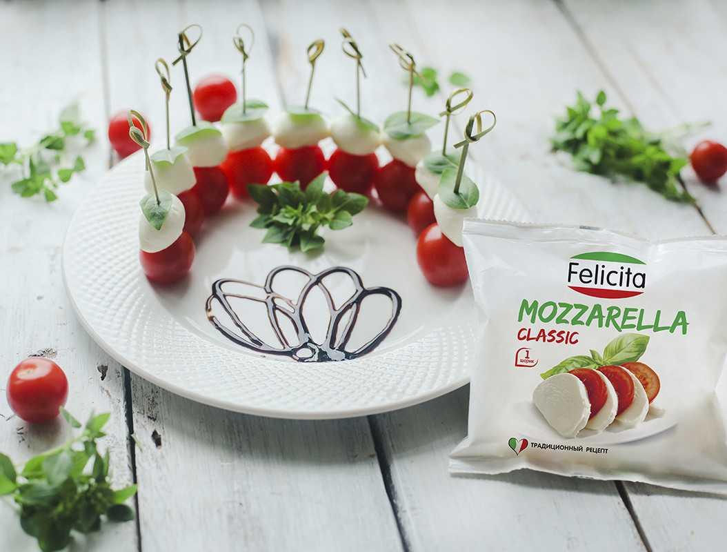 Салаты из моцареллы, 68 рецептов, фото-рецепты / готовим.ру