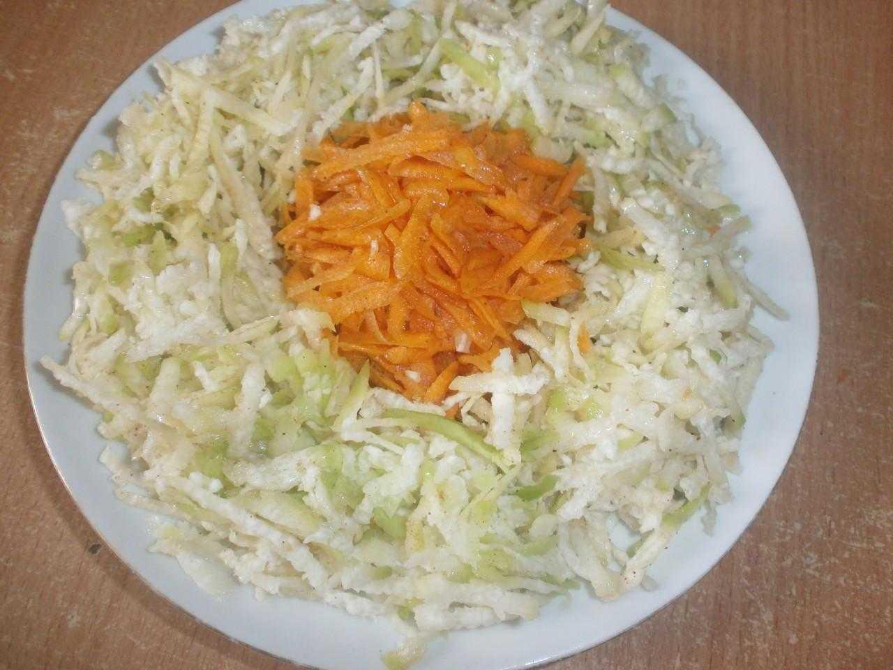 Салат из редьки зеленой - идеальный выбор для семейного ужина: рецепт с фото и видео