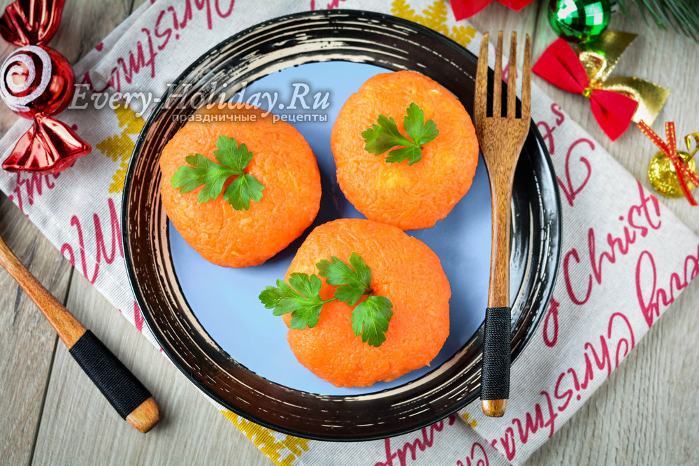 Закуска мандаринки. сырная острая новогодняя закуска - рецепт