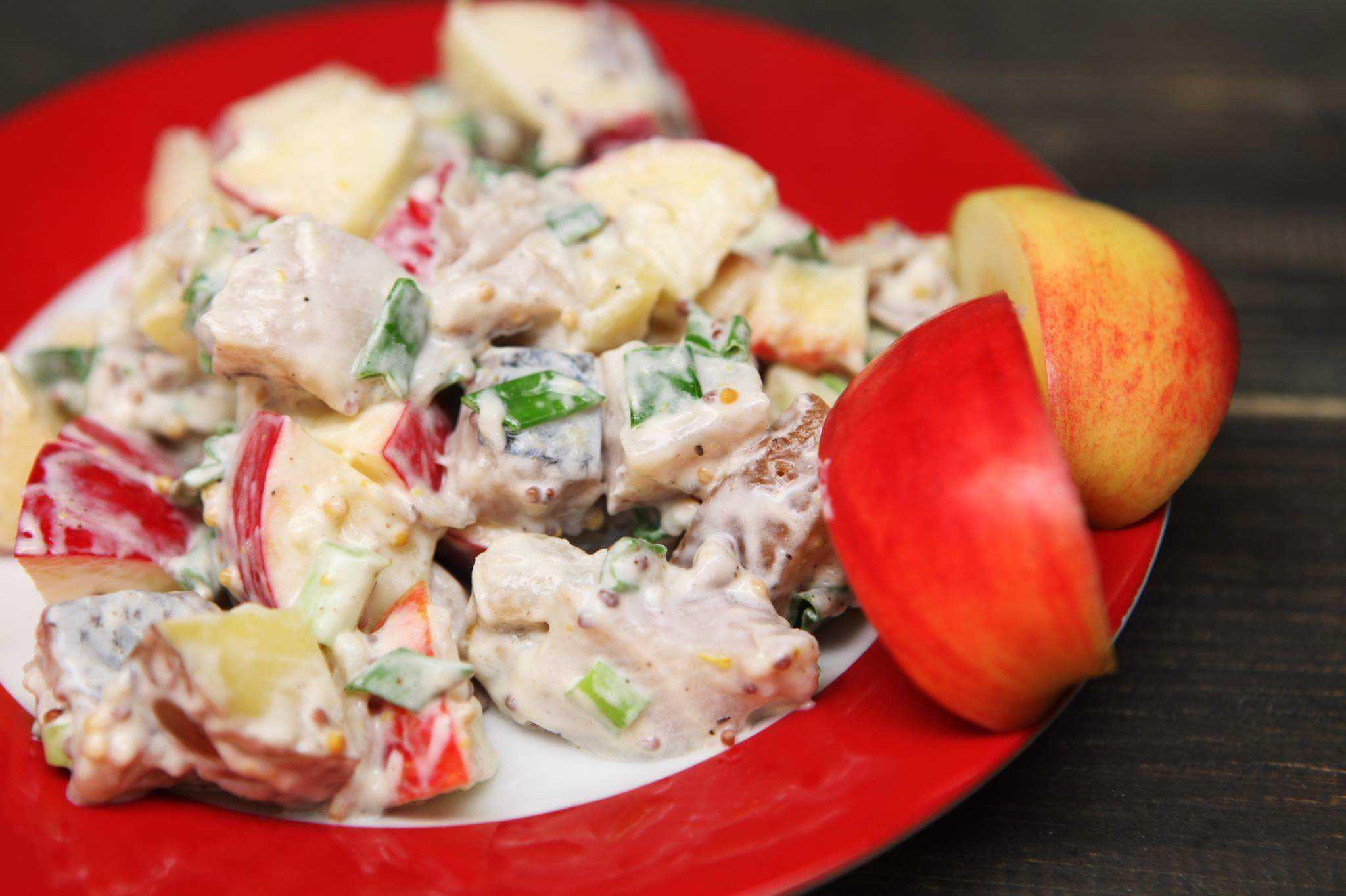 Яблочный салат рецепт с фото пошагово - 1000.menu