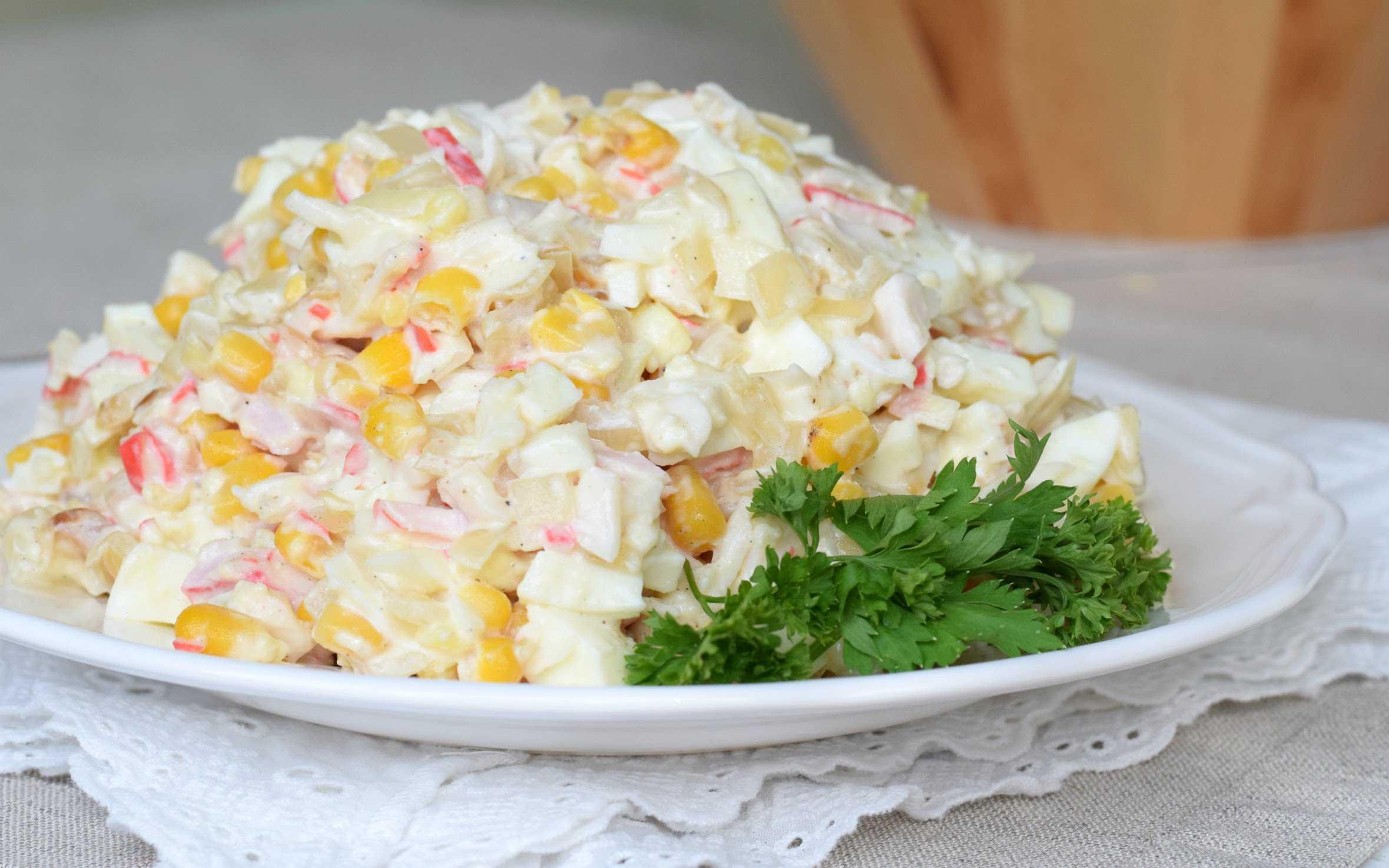 Как приготовить салат рис, крабовые палочки, кукуруза, огурец: поиск по ингредиентам, советы, отзывы, пошаговые фото, подсчет калорий, изменение порций, похожие рецепты