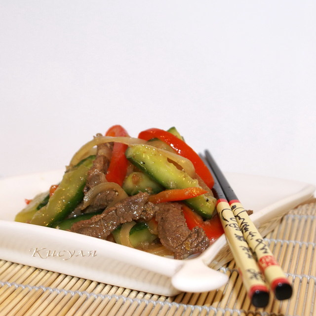 Салаты и хе по-корейски из говядины, курицы и морепродуктов в домашних условиях