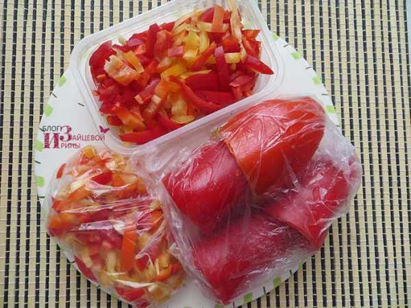 Как заморозить болгарский перец на зиму в морозилке свежим: способы и отзывы