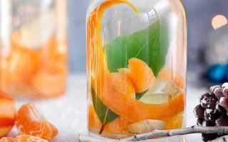 Настойка самогона на мандариновых корках: классический рецепт, с кофейными зернами, ванилином, лимоном. Правила приготовления и применения.