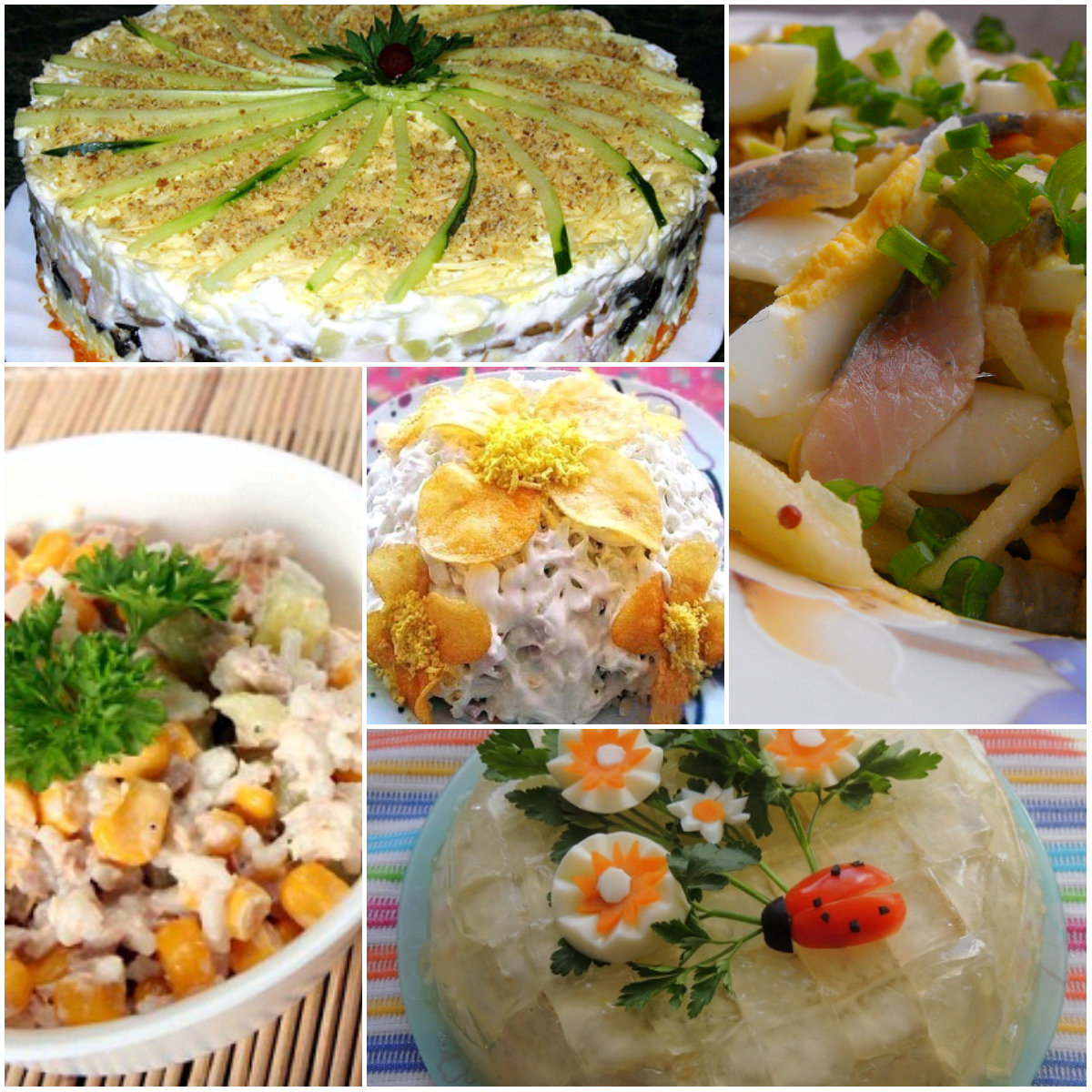 Салаты на день рождения — простые и вкусные рецепты