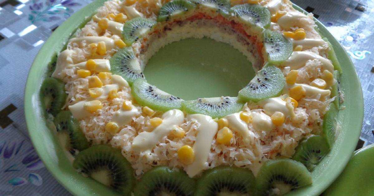 Салат с киви - рецепты «малахитового браслета», «черепахи», «дамского каприза»