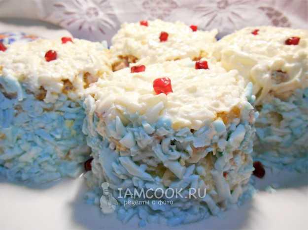 Салат cнежная королева — рецепты красивой закуски на праздничный стол. «снежная королева»: любопытный слоеный салат с ветчиной и крабовыми палочками