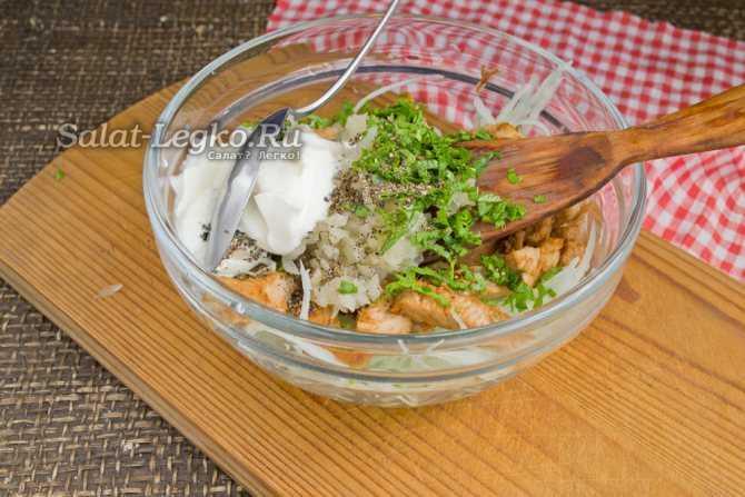 Салат ташкент классический с редькой и говядиной