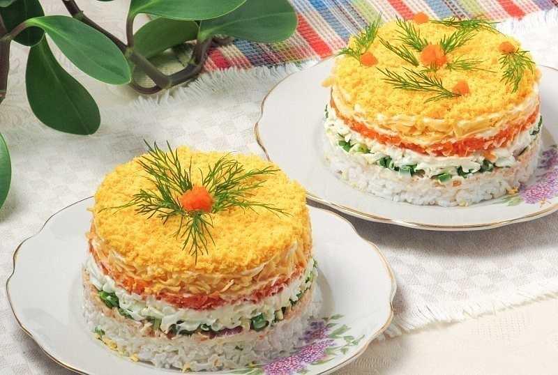 Салат мимоза с консервированным лососем - рецепт с фото пошагово