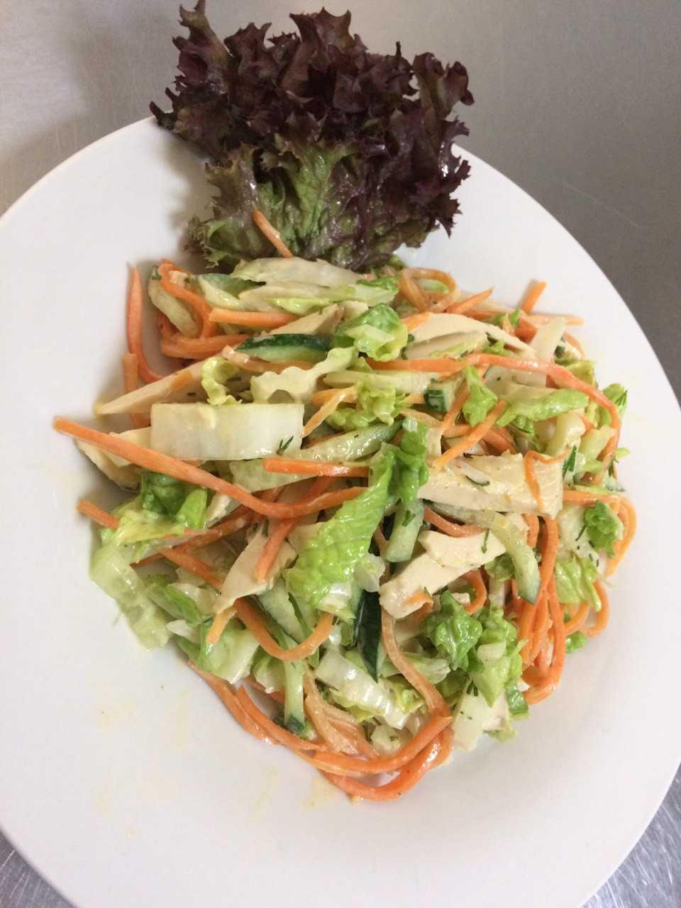 Салат из пекинской капусты с корейской морковью от фоторецепт