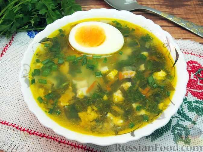 Зеленый борщ со щавелем и яйцом: 12 пошаговых рецептов