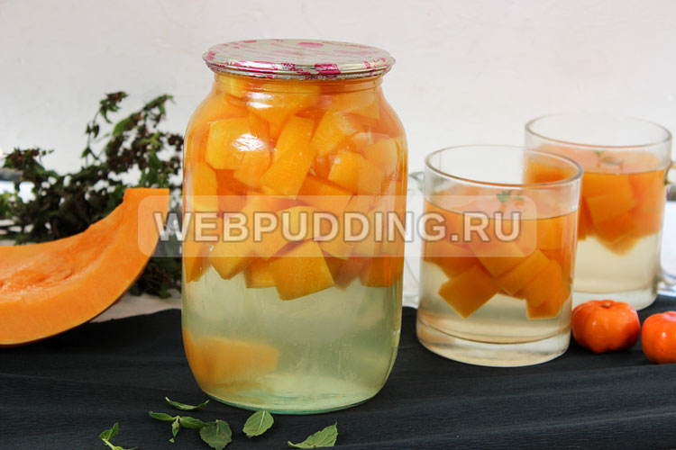 Рецепт компота из тыквы на зиму как ананас, последовательность приготовления