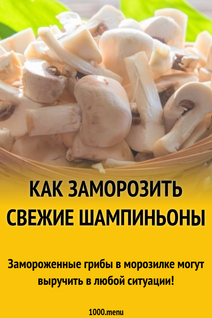 Как правильно заморозить белые грибы на зиму в морозилке в домашних условиях: способы заморозки » сусеки