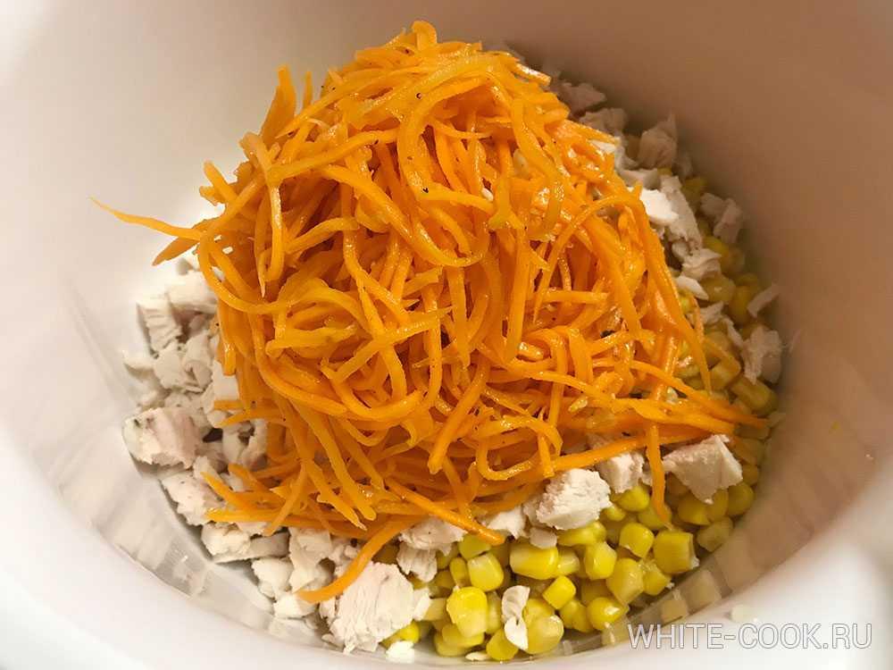 Салат с корейской морковью - просто и оригинально: рецепт с фото и видео