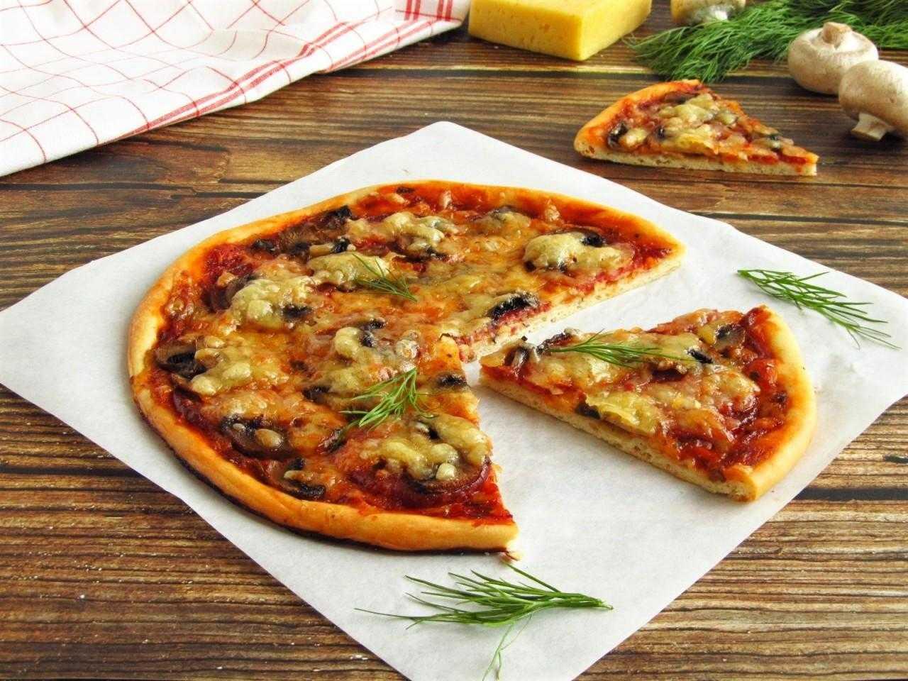 Пицца с маринованными грибами - пошаговый рецепт с фото