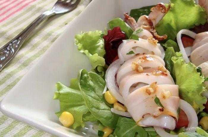 Салат из кальмаров - 3 простых и вкусных рецепта с пошаговыми фото | ne-dieta
