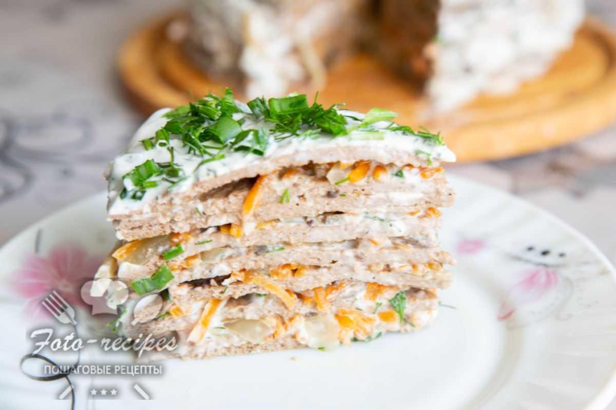 Печёночный торт из свиной печени — 6 рецептов - rus-womens