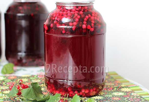 Компот из чёрной смородины на зиму - 8 пошаговых фото в рецепте