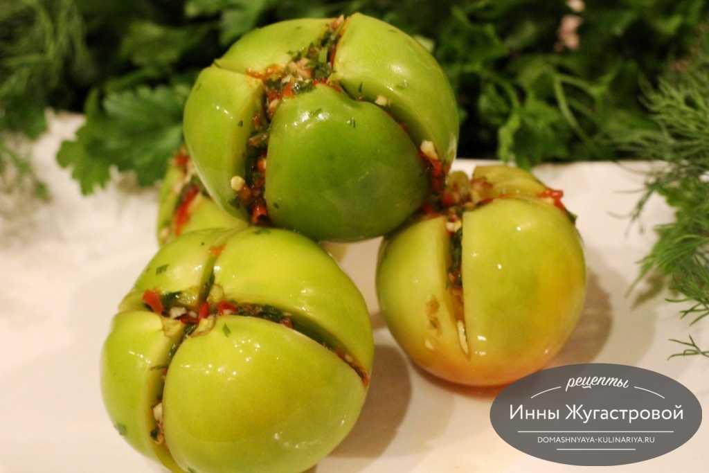 Квашеные фаршированные зеленые помидоры: лучшие рецепты приготовления.