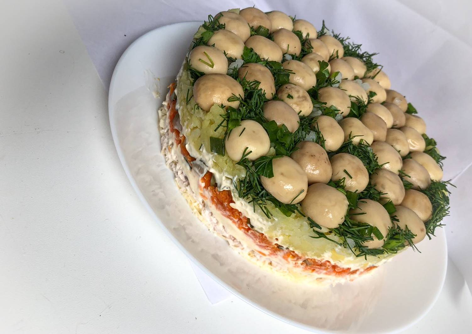Салат грибная (лесная) поляна с шампиньонами – 9 рецептов с фото пошагово